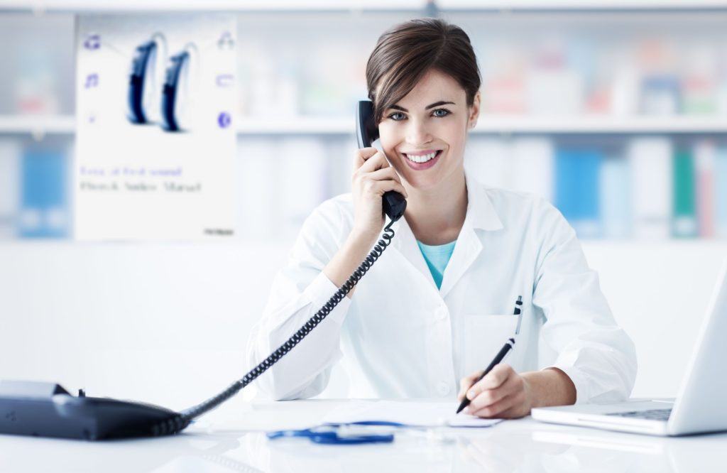 Hearing Specialist on Phone
